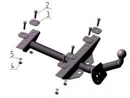 Фаркоп (ТСУ) для 1111 Лидер-Плюс до 400 кг артикул VAZ-16H