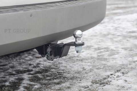 Фаркоп на Hyundai H1 2008-2018, 2018-, Hyundai Starex 2008- без подрезки бампера. Тип шара: E (легкосъемный шар под квадрат). Нагрузки: 2500/100 кг,