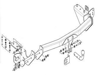 Фаркоп (ТСУ) Toyota RAV4 С 2013 гв производитель: VAMER до 1500 кг
