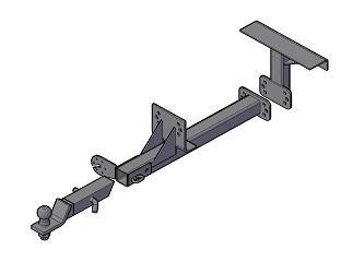 Фаркоп (ТСУ) УАЗ 3160(1997-2002гв), УАЗ 3163 (2005-09.2014 гв), УАЗ 31631 (2008-09.2014гв), УАЗ 3164 (с 2010гв.) Трейлер до 1000 кг артикул 3163.В