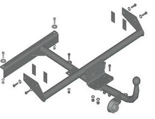Фаркоп (ТСУ) ВАЗ 2113, 2114 Трейлер до 750 кг артикул 2114.Р