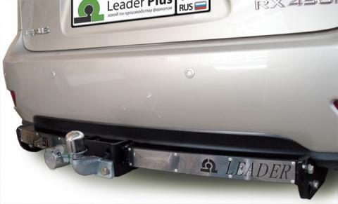 Фаркоп (ТСУ) для LEXUS RX 270/350/450 (AL1) 2009-... (С НЕРЖ. ПЛАСТИНОЙ) Лидер-Плюс до 2000 кг артикул L103-F(N)