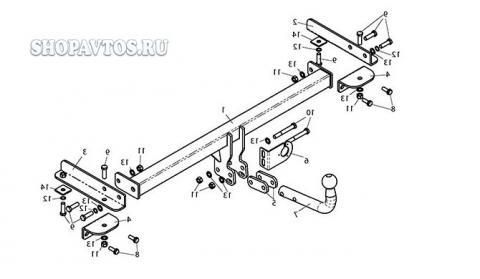 Фаркоп (ТСУ) для CHEVROLET AVEO (T300) (седан) 2012-...Лидер-Плюс до 1200 кг артикул C215-A
