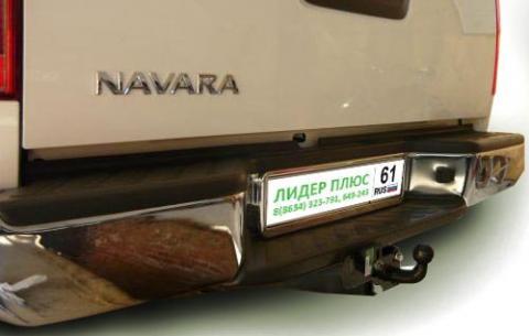 Фаркоп (ТСУ) для NISSAN NAVARA Double Cab (D40) (со ступенькой) 2005-... Лидер-Плюс до 1200 кг артикул N107-FC