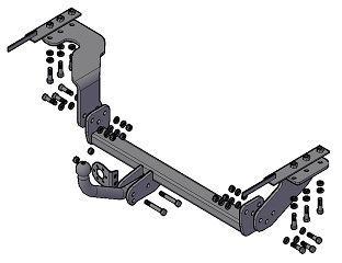 Фаркоп (ТСУ) Nissan X-Trail с 2007-2014 гв. Трейлер до 1200 кг артикул 7711