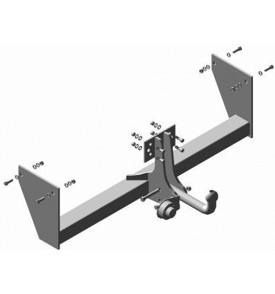 Фаркоп (ТСУ) УАЗ 2363  Пикап (при установке необходимо предусмотреть место хр-я зап. колеса) Трейлер до 1000 кг артикул 2363.С
